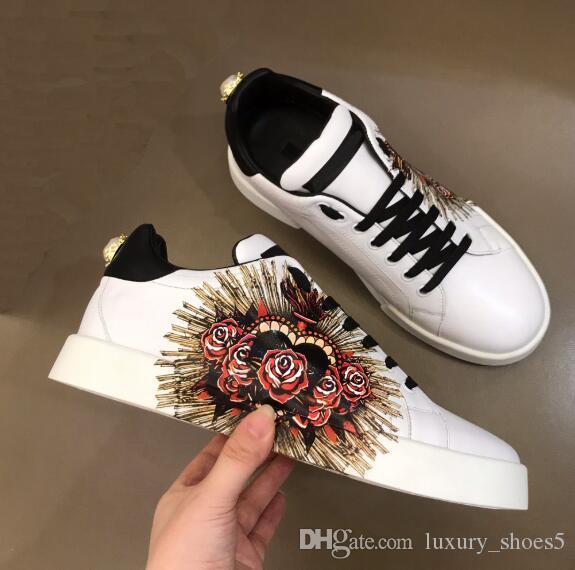 Lüks erkek tasarımcı ayakkabı Hakiki Deri Flats basketbol kanye yıldız Sneakers erkekler vintage Franch Ayakkabı Yürüyüş chaussures hommes 11