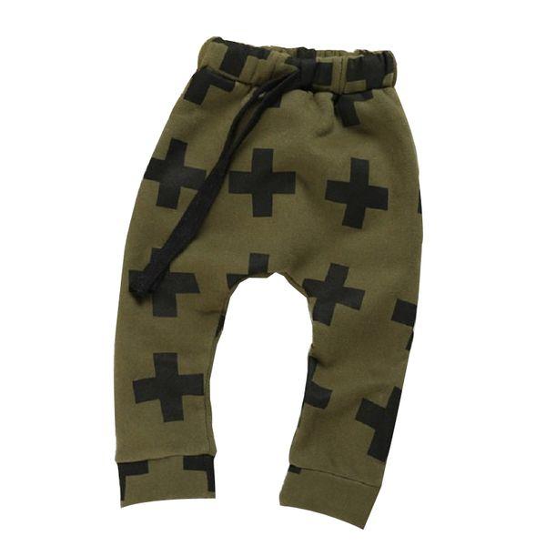 Leggings Pantalon Longue Johns Enfants Designer Vêtements Garçons Cross Imprimé Pantalon Décontracté Ruban Bande Mid Taille Cordon 24