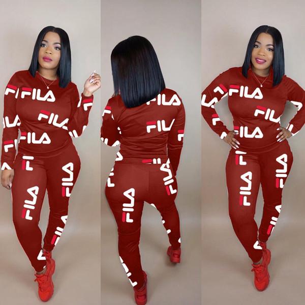 Sıcak Kadınlar Mektup Baskı 2 Iki Parçalı Set Üstü ve Pantolon Kadın Eşofman Artı Boyutu Rahat Kıyafet Spor Takım Elbise Kadın Eşofman 3 renkler 22