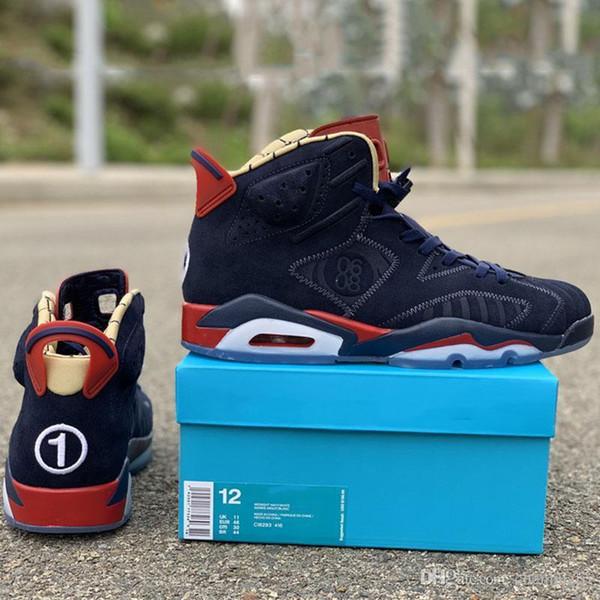 Баскетбол Doernbecher DB Shoes 6s 2019 Обновленные дизайнерские мужские верхние замшевые кроссовки для спортивной обуви высшего качества
