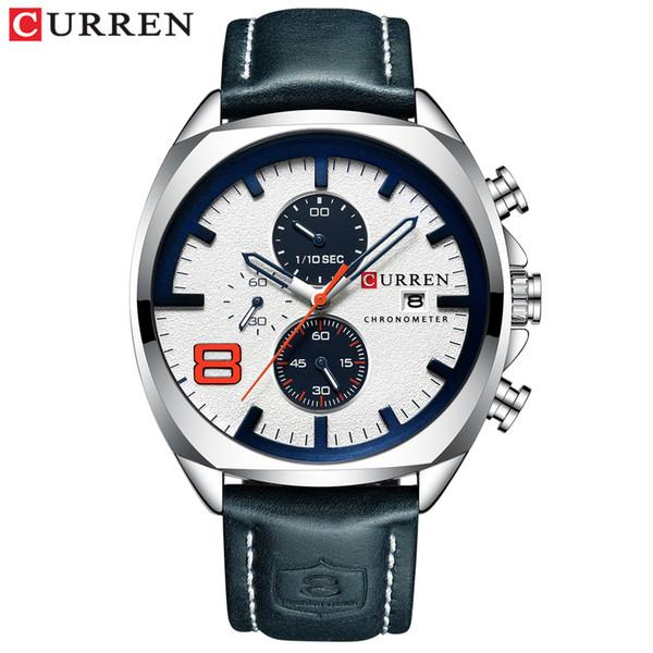 Top  Men Watches CURREN  Analog Male Quartz Clock Men's Sport Wristwatch Relogio Masculino Waterproof Watch