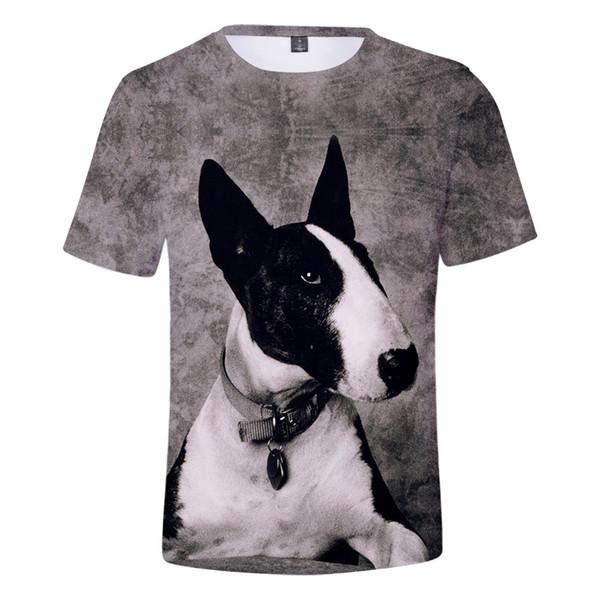2019 Bull Terrier T shirt Das Mulheres Dos Homens Venda Quente de verão tshirt Nova Impressão Bull Terrier T-shirt Menino / Menina Moda Tees