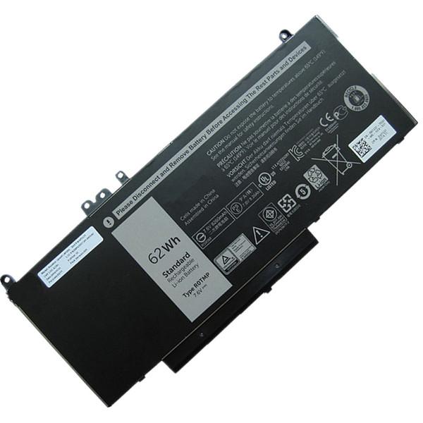 Batteria per portatile originale da 6,6V 62Wh 6MT4T per Dell Latitude E5450 E5470 E5550 E5570 7V69Y TXF9M 79VRK 07V69Y