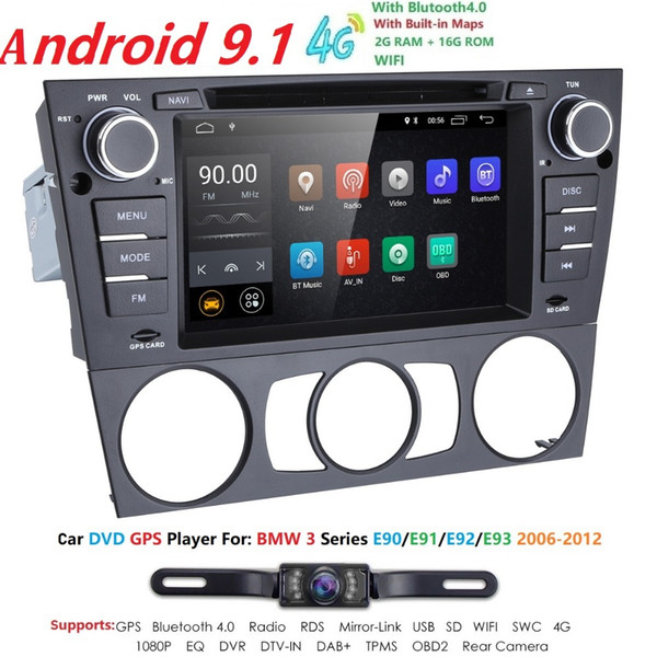 Автомобильный мультимедийный плеер Android9 GPS-навигатор Радио Аудио для BMW 3 E90 / E91 / E92 / E93 HeadUnit DVD Monitor магнитофон