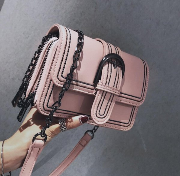 Women's Designer Handbag 2019 Fashion New Quality Pu Leather Women Bag Simple Style Chain Multi-layer Shoulder Messenger Bags