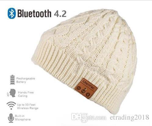 Nuevo Wireless Bluetooth 4.2 Music Hat Cap con Auriculares Estéreo Auriculares Auriculares Micrófono de Altavoz para Deportes Al Aire Libre El Mejor Regalo de Navidad