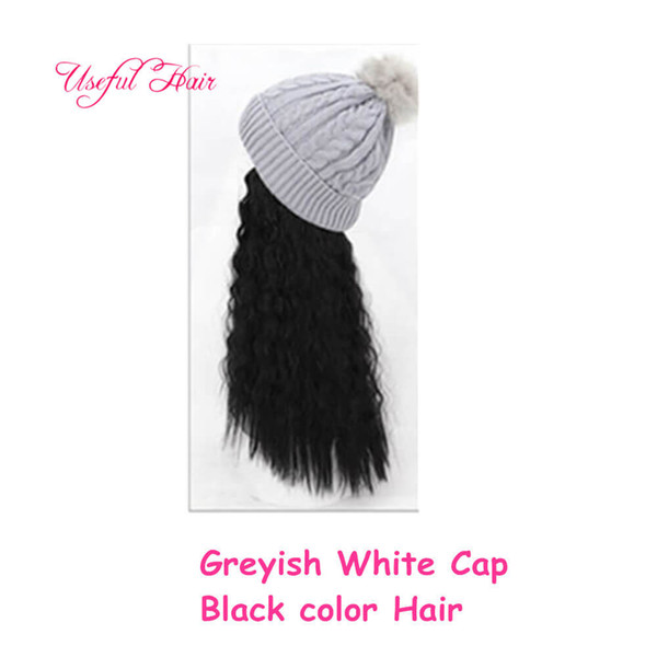 Canosos casquillo blanco natural del pelo negro