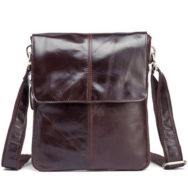 Kingsons Genuine Leather Men Messenger Bag Cow Man Crossbody Shoulder Bags Mens Small Nylon Hand Bags Male Leather Bag SDM-B579