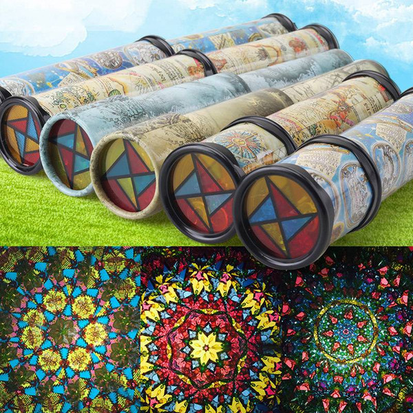 best selling Map Printted Kaleidoscope 360 Degree Rotation Classic Colorful Fancy Kids Childhood Toy Children Baby Gifts HHA608
