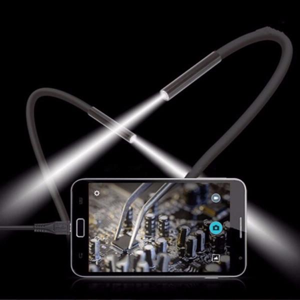 1 M 5.5 m / 7mm Lente USB Endoscópio Câmera À Prova D 'Água Tubo De Cobra Fio Flexível Inspeção Endoscópio Para OTG Compatível com Android telefones