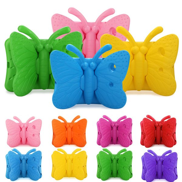 Shockproof Butterfly Case Best EVA Soft Stander For iPad 234 iPad Air iPad Mini 9 Colors For Children
