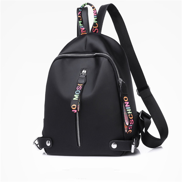 best selling Small Designer backpack For Women Girls Large capacity canvas backpacks with Black White Pink 3 colors high quality Back pack Drop Shipping