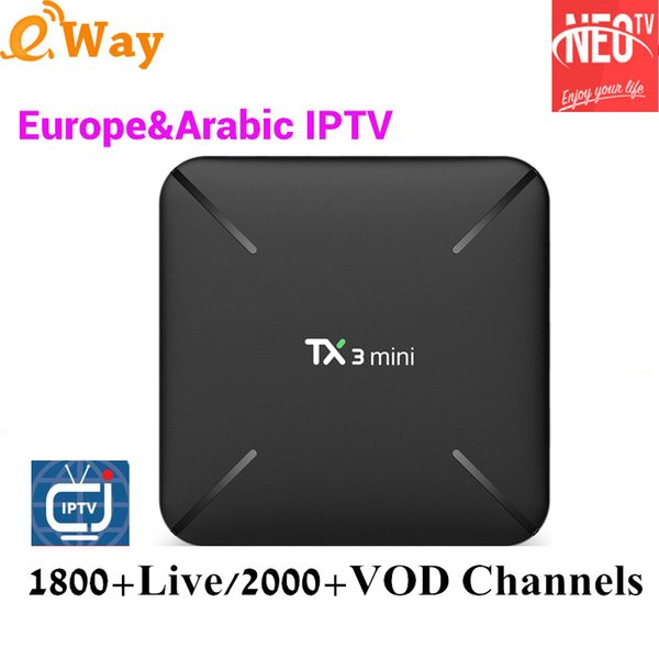 Tx3 Mini S905W Tv Box 1Year Neotv Pro French IPTV Subscription Beigium  Arabic Europe French Live Tv Code Iptv 1800 Channels Set Top Box Review Tv  Box