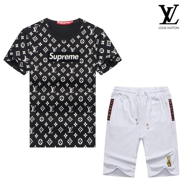 Erkekler Için T Shirt Tam Boy Kısa Kollu Şort Takım Yuvarlak Boyun Marka Kısa Kollu Elbise