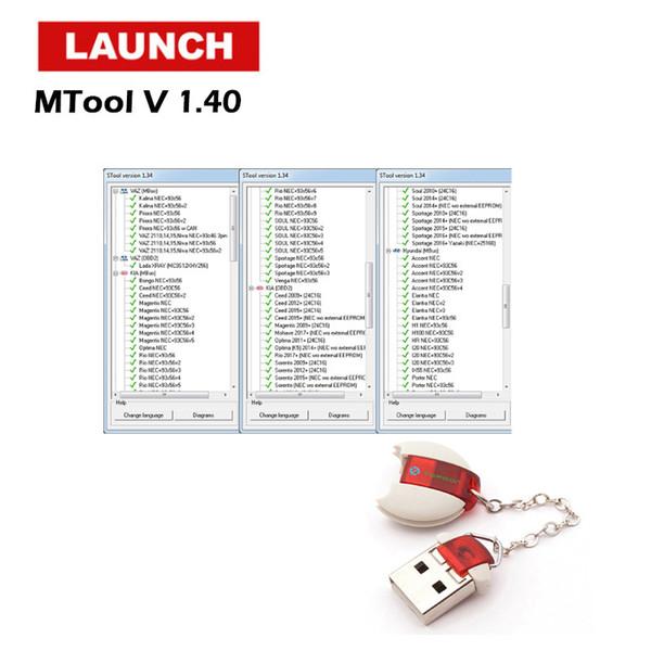 Programador de Milhagem de Carro MTool OBD Ajustar a Mudança de Carros M-BUS odômetro correção Software e Adaptador obd2