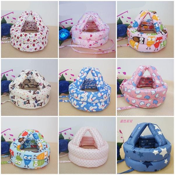 Sombrero de seguridad para niños Gorra contra la caída Protección para la cabeza Bebé Niño pequeño Estilos múltiples colores Mix 12wj F1