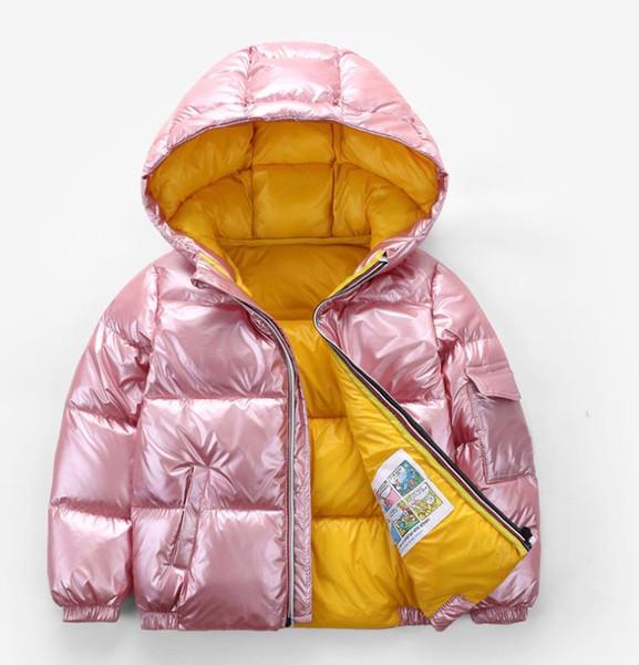 Outono inverno casaco crianças modelos infantis Desgaste das crianças jaqueta 2018 ultra leve super quente 80% pato branco para baixo casaco