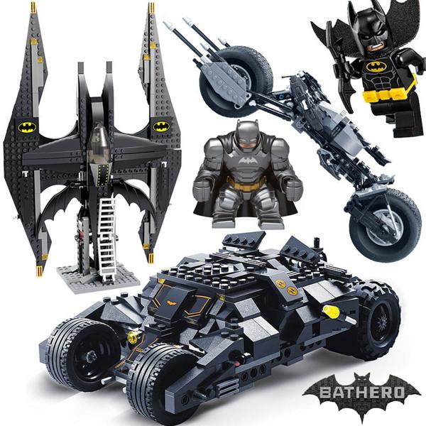 top popular Comaptible ing Batman Tumbler Movies Figures Batpod Batmobile Set Building Blocks Kids Toys Technic Bricks 2020
