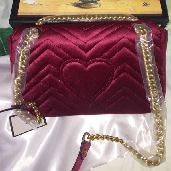 HOT!Famous brand designer fashion luxury ladies velvet small chain shoulder bags messenger bag women crossbody free shipping size:28x15x8cm
