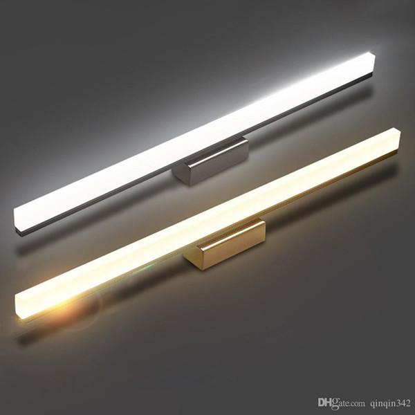 trasporto di alta qualità 7W 10W specchio luci parete frontale LED 40/60 centimetri credenza moderna Breve stanza da bagno LED lampada da parete