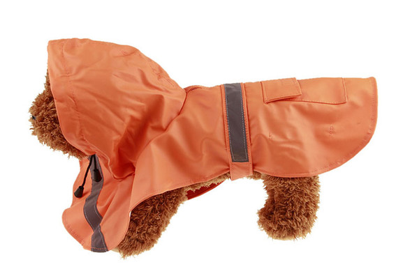10PCS wholesale Dog Rain Poncho Fashion Pet Dog Raincoat Small Medium Large Dog Rain Jacket Raincoats Waterproof