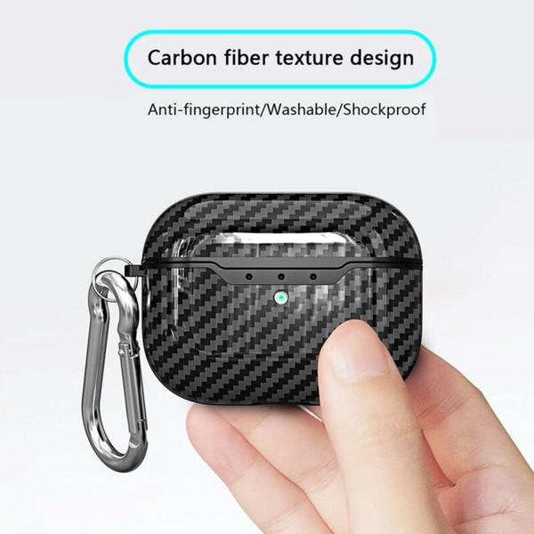 Новый для Apple AirPods Pro Корпус из углеродного волокна TPU противоударной зарядного случая крышка кожи