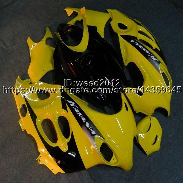 Bots + Özel sarı motosiklet Suzuki Katana Için Fairing GSX600F 2003-2006 GSX750F 2003-2006 ABS Plastik motor kaporta