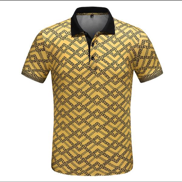 2019 Avrupa ve Amerikan erkek spor moda standı yaka pamuk kısa kollu Polo gömlek T-shirt M-3XL perakende toptan hızlı teslimat