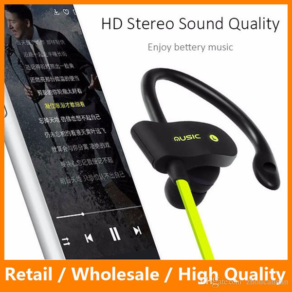 Bluetooth 4.1 Wireless Headphones Ear Hook Fashion Sport Running Earphones Stereo MP3 Music Player Earbuds Headset with Microphone