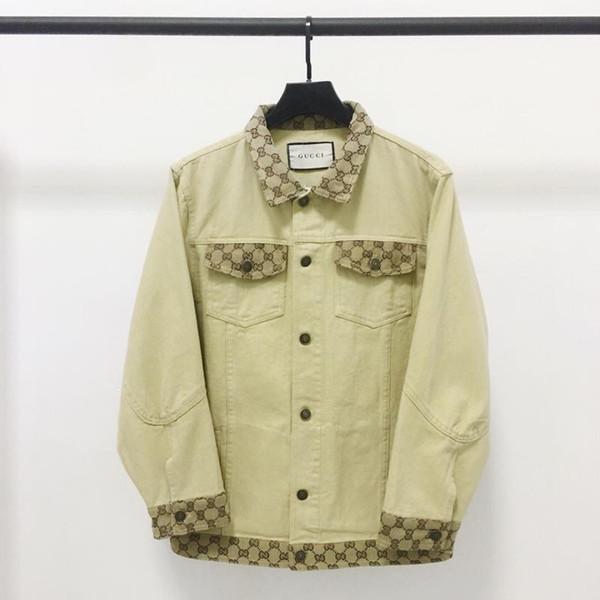 Japon tarzı kadın kot ceket retro marka klasik rahat jean ceket dimi denim yüksek kaliteli kumaş dikiş gevşek ceketler womens