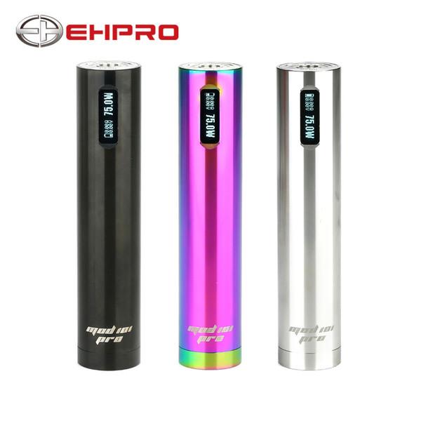 Ehpro 101 Pro TC Mod 75 W Penstyle TC MOD Stylo OLED Affichage One Button Design No 18650 Batterie Cigarette électronique