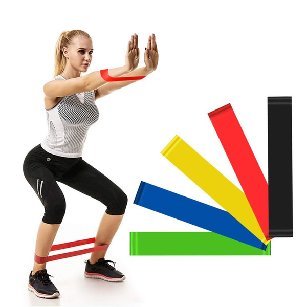 4 Colors Yoga Resistance Rubber Bands Indoor Outdoor Fitness Equipment 0.45mm-0.9mm Pilates Sport Training Workout Elastic Bands