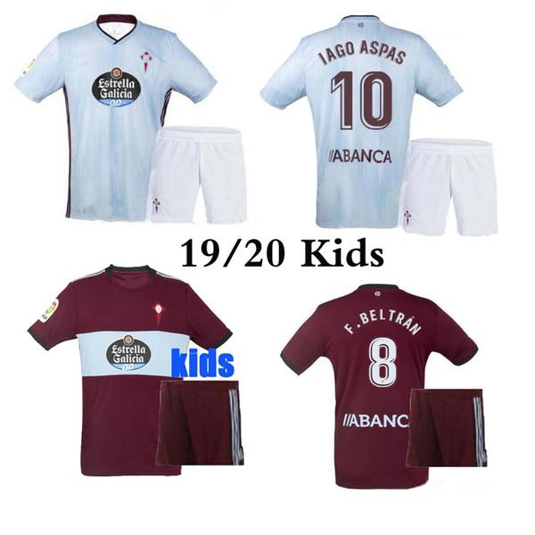 Meilleure qualité 19 20 kits de maillot de football Celta Vigo enfant 2019 Celta de Vigo BONGONDA HERNANDEZ NOLITO domicile enfants maillots de football