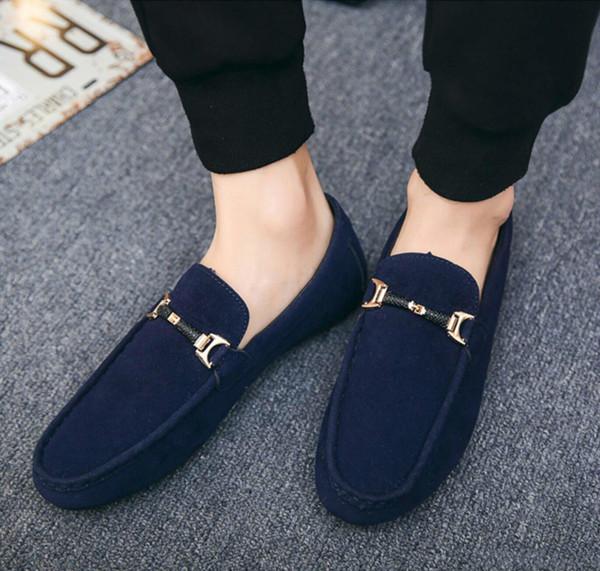Mens On Comfort Chaussures Casual Homme Doux En Daim Léger Marche Chaussures Habillées Mocassins Mocassins Respirants