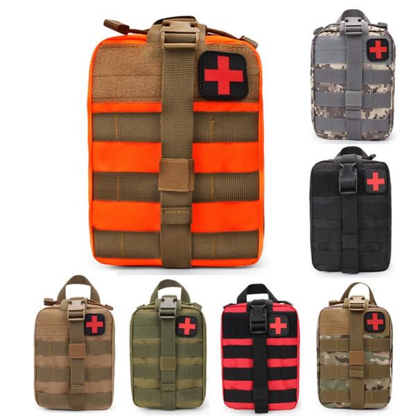 Nova marca Ao Ar Livre EDC Molle Tactical Bolsa Saco Kit de Primeiros Socorros de Emergência Saco de Viagem de Acampamento Caminhadas Escalada Kits Médicos Sacos # 108500
