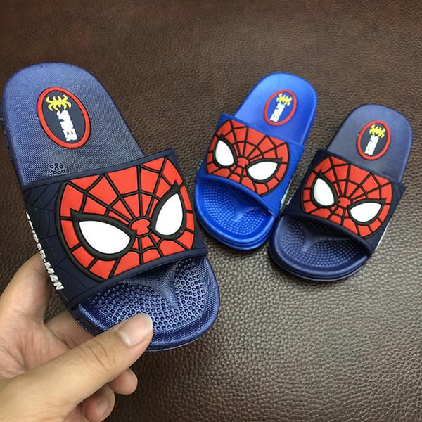 Großhandel 2019 Sommer Kinder Jungen Hausschuhe Indoor Hause Schuhe Kinder Outdoor Sandalen Cartoon Strand Hausschuhe Für Jungen Wasser Flip Flops