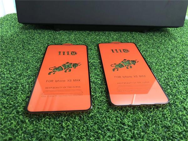 Caso Amigável 111D Vidro Temperado para iphone6 7 8, para iphone6 7 8 plus, para iphone x, para o iphone xs Curvo Caso Versão Protetor de Tela Do Telefone