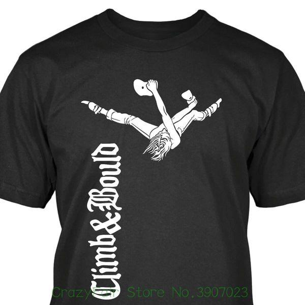 Climb Bould T-shirt Algodón de calidad superior Casual Hombres Camisetas Hombre envío