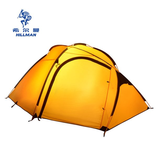 Hillman new 4-5 super family outdoor tent camping tents double-layer aluminum rod big tents Qingyun xx032