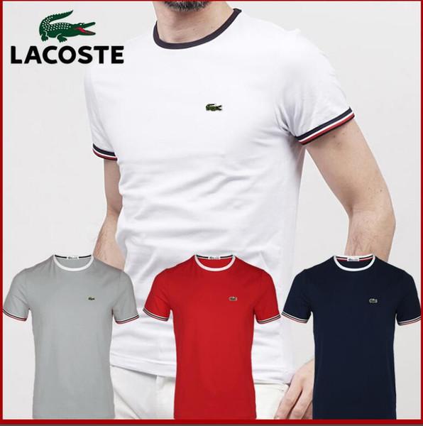 100% Baumwolle, die den Monddruck gräbt lässige Herren Oansatz T-Shirts Mode Männer Tops Männer T-Shirt Kurzarm Herren T-Shirt