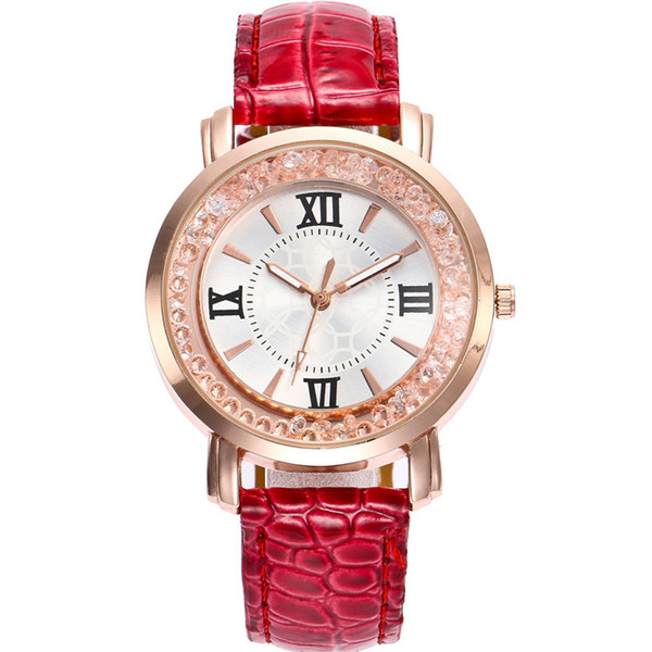 2019 New Style Ladies Watch Quicksand Ball Quartz Watch Student Belt Watch Female Models European American Fashion Popular Creative Hot Sale