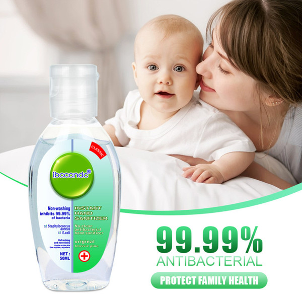 top popular 50ml gel hand sanitizer 75% antibacterial gel alcohol hand disinfection sterilization portable non-washing free shipping DHL 2021