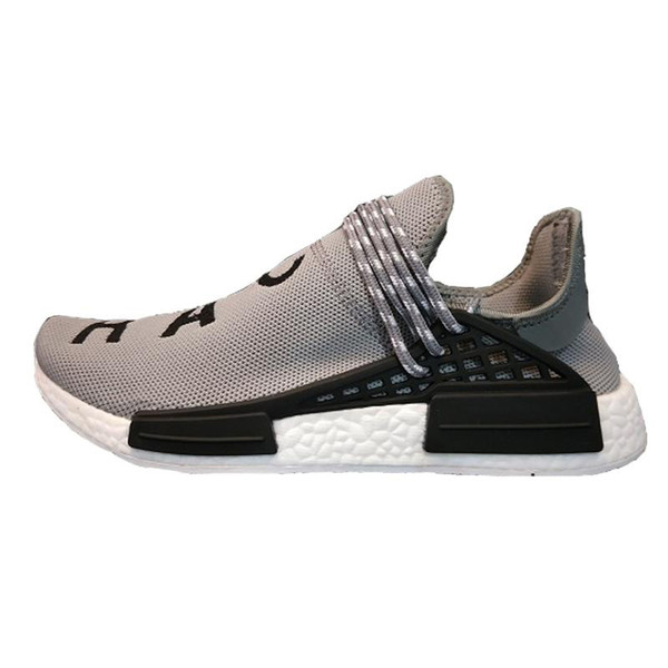 Human RACE HU Pharrell Williams Trail Mens Designer Sports neutral spikes Running Shoes for Men Sneakers Women Casual Trainers 35484