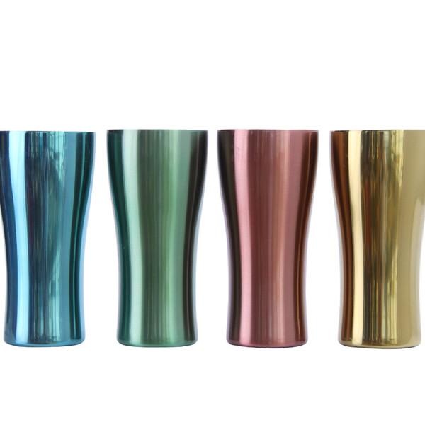 heißer 4 Farbedelstahl überfällt Metallsportschaleneinschichtiger bunter Autoschale der Schalen im Freien Kaffeetassen Tee-Bierkrug T2I5186