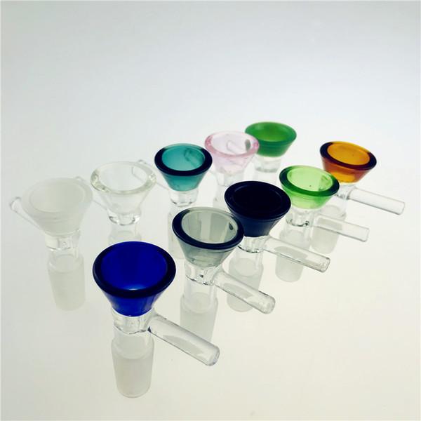 Воронка Чаша для стекла Бонга чаш трубы толщина 5 мм слайдов бонгов курения цвета розового куска пьянящих оптовики масла станков частей 14мм 18мм слайд мазок