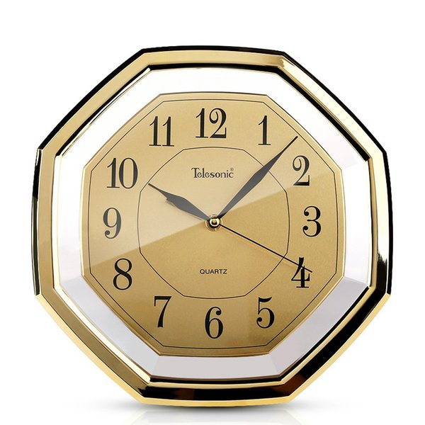 gold large wall clocks silent vintage study living room gossip clock retro chinese wall-mounted clock reloj pared decor sc088