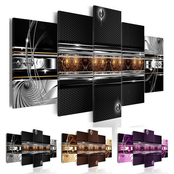 Abstract Multi Panel Wall Art Bling
