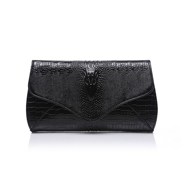 2019 new fashion trend crocodile Cowhide leather Women bag ladies chain handbag shoulder messenger bag ladies leather clutch