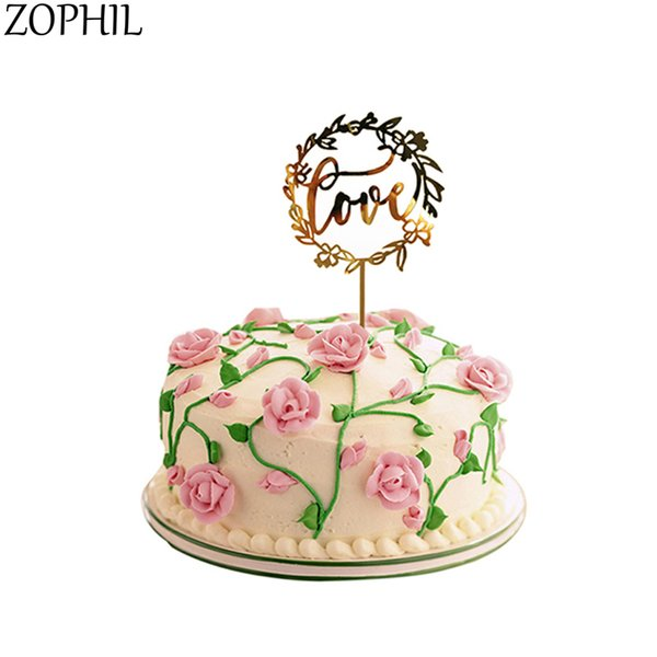ZOPHIL Wedding Decoration Acrylic LOVE Cupcake Toppers Cake Toppers Bride to be Party Decoration Bachelorette Party Supplies