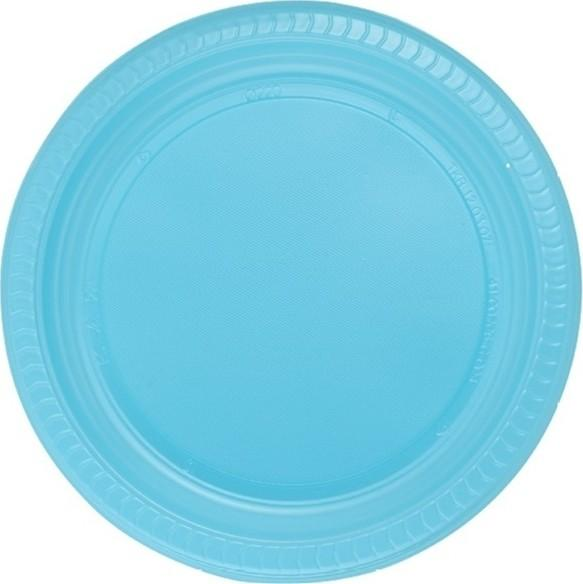 Roll-Up Blue 22 cm plastic plate 25 'with Ship from Turkey HB-004258131